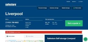 Self Storage Units in Liverpool - Lowest Price Guaranteed
