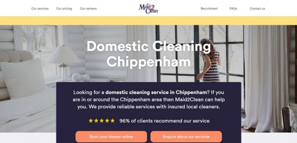 Domestic Cleaning Services in Chippenham | Maid2Clean