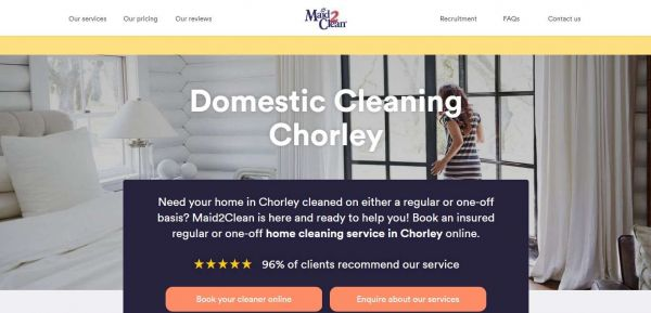 Domestic Cleaning Services in Chorley | Maid2Clean