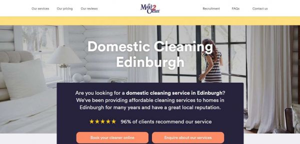 Domestic Cleaning Services in Edinburgh - Maid2Clean