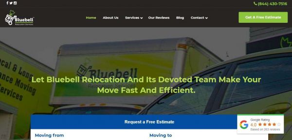 Bluebellmovingandstorage.com website added