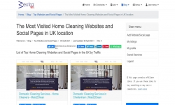 The Most Visited Home Cleaning Websites and Social Pages in UK location