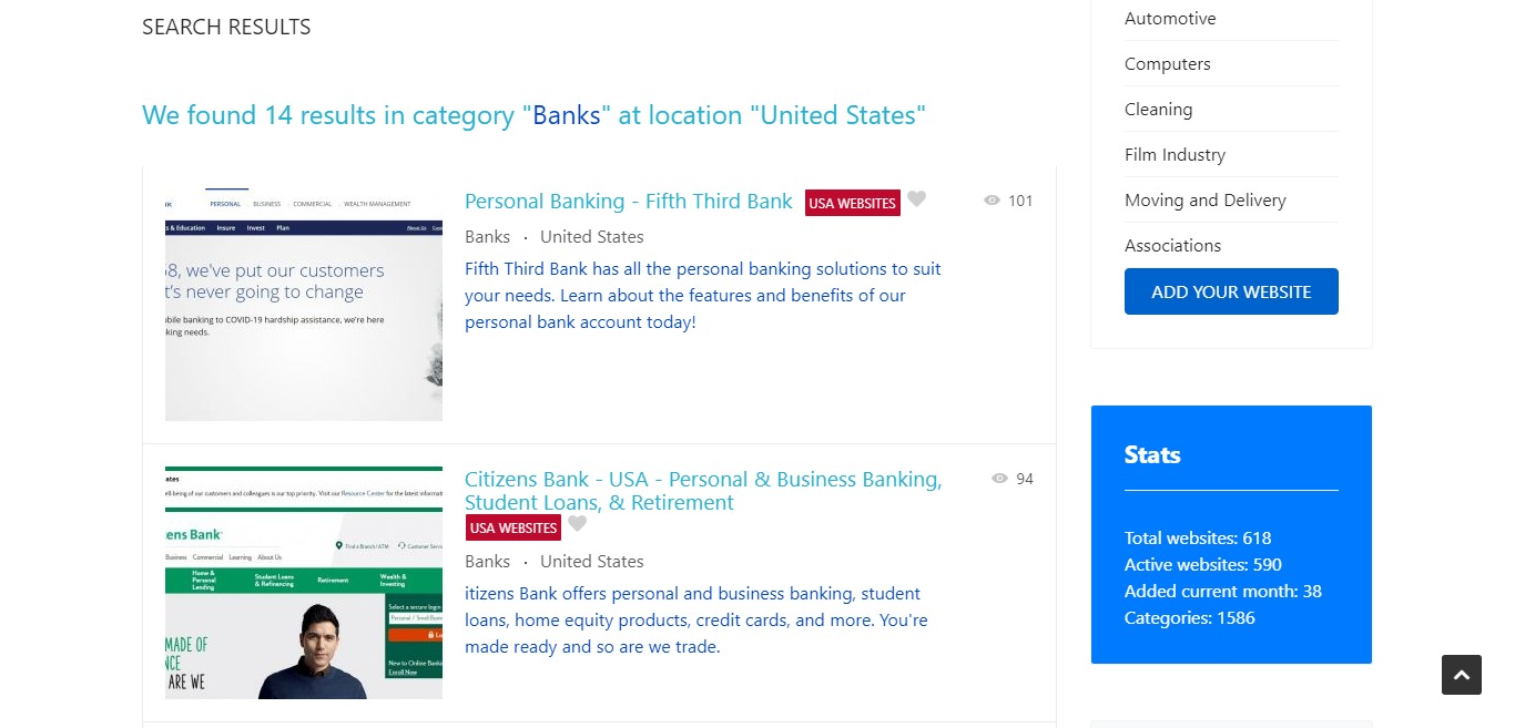 Banks subcategory added in Business and Finance